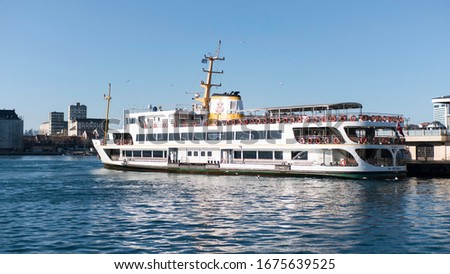 Istanbul Turkey ferry standing ferry boat ferry ride in sea ocean ferry ships