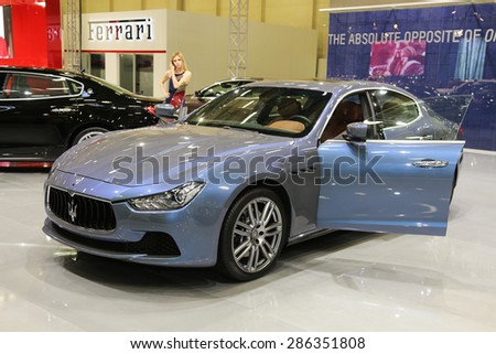 ISTANBUL, TURKEY - MAY 30, 2015: Maserati Ghibli Ermenegildo Zegna ...