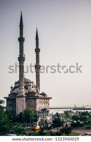 Istanbul, Turkey - May 20, 2008: The Haydarpasa Protokol Mosque in Kadikoy, Istanbul