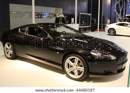 ISTANBUL, TURKEY - NOVEMBER 07: Aston Martin DB9 at 13th International Auto Show on November 07, 2010 in Istanbul, Turkey.