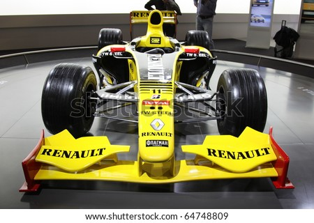 ISTANBUL, TURKEY - NOVEMBER 07: Renault F1 car at 13th International Auto Show on November 07, 2010 in Istanbul, Turkey.