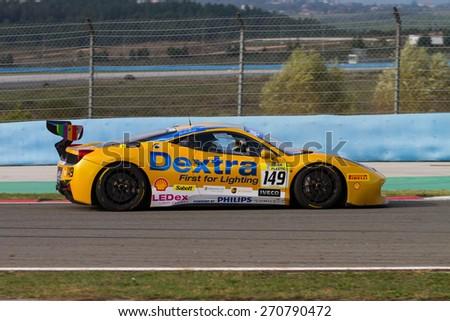 ISTANBUL, TURKEY - OCTOBER 26, 2014: Rupert Martin drives Ferrari 458 Challenge EVO of Motor Piacenza Racing Team during Ferrari Racing Days in Istanbul Park Racing Circuit