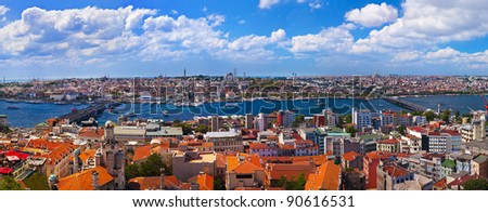 Istanbul Turkey panorama - architecture travel background