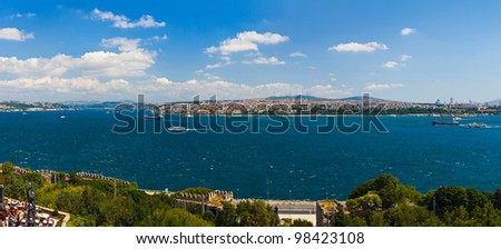 Istanbul Turkey panorama - architecture travel background - stock photo