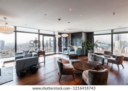 Istanbul, Turkey 2016-10-07 Panoramic view Lounge in Torun Center Mecidiyekoy.  #1216418743