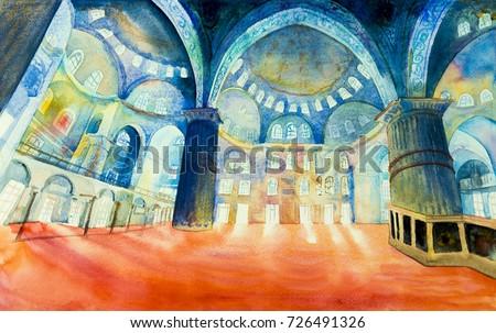 istanbul  turkey  the blue...