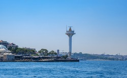 Istanbul, Turkey. View of the Radar Tower and the Uskudar Coast