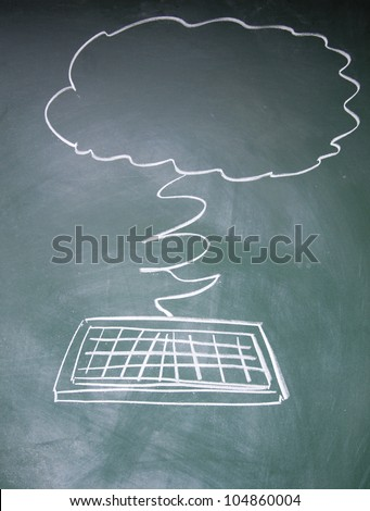 IT cloud symbol - stock photo
