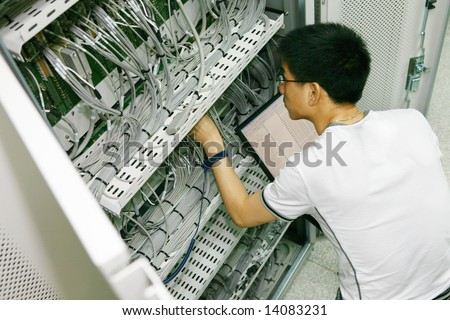 IT Engineer Working