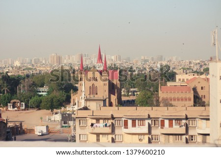 It is a Church building, This Church is located in Karachi. this click was clicked by canon 700d and the lens which was used in this picture is 50mm 1.4