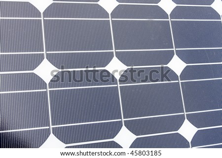 It is a Closeup of Solar Panels useful for alternative energy themes