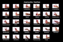 It is a hand gesture used in bharathnatyam dance