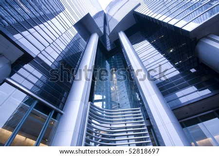 it is a modern  building in hong kong