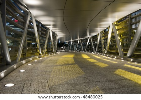 it is a modern flyover - stock photo
