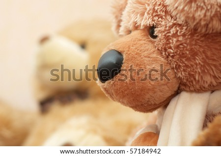 It is a stuffed toy bear.