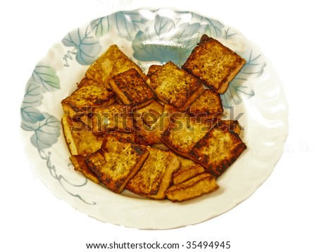 """It is a Taiwanese style homemade meal """"Tofu stir-fry""""."""