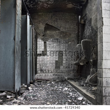 It is a toilet after fire.