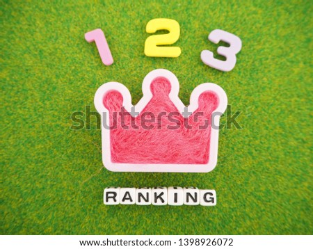 It is expressed by the character that it is ranking high rank  #1398926072
