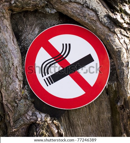 It is forbidden to smoke a sign