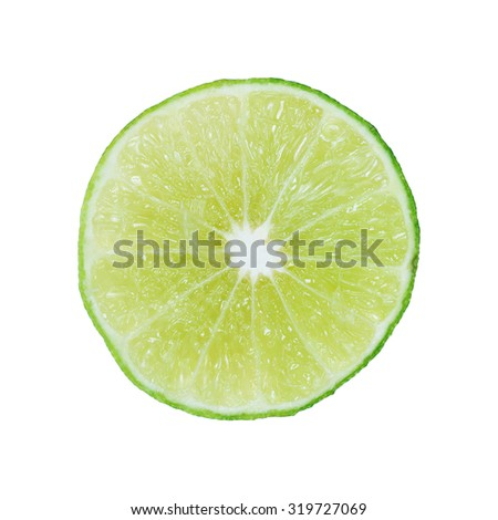 It is Half sliced lime isolated on white. #319727069