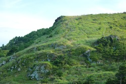 It is scenery of  Jeju Songa Mountain
