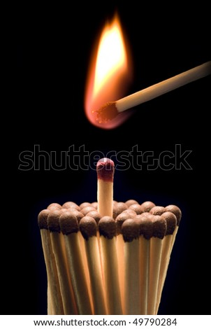 It is symbolical the staff (hot enthusiasm - the big danger).