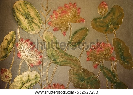 It is Thai traditional work of art to create the marveluos painting.