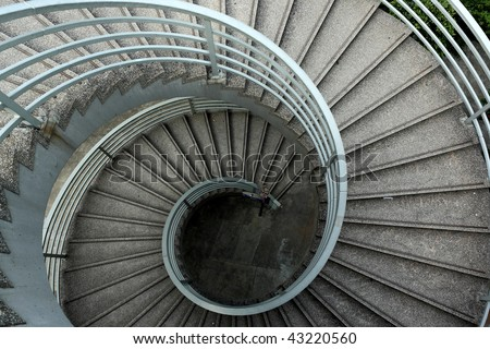 It is the beautiful spiraling stairs