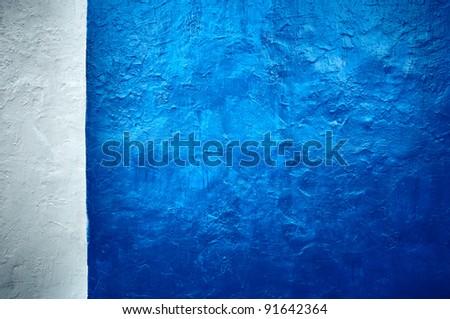 It is white - a dark blue background in style grunge.