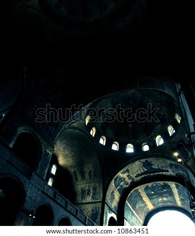 it look like an old temple, but it's : St Mark s Basilica Venice Italy
