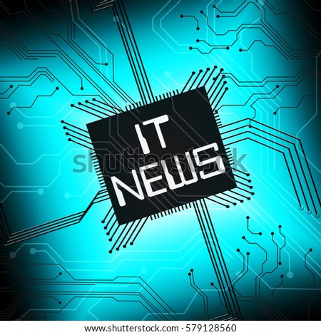 It News Cpu Shows Information Technology 3d Illustration