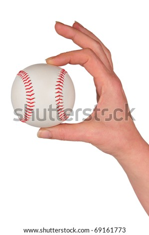 it photographs holding baseball ball with white bottom