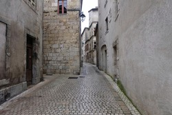 It's a quiet old town passageway