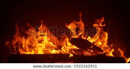 It' s a ver beautiful fire Foto stock ©