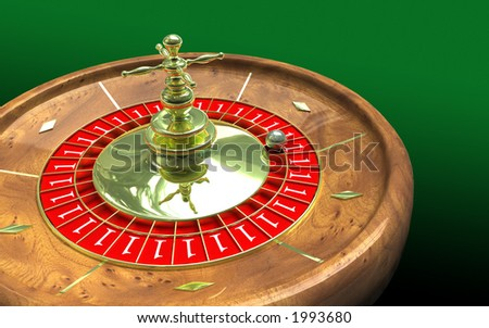 It's a win-win situation with a roulette wheel showing only ones - stock photo