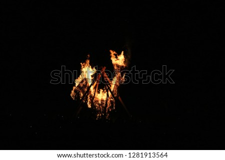 It's roosters sculpture that's have been set on fire. Foto stock ©