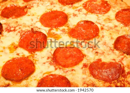 Itailain Pepperoni Pizza with cheese.