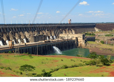 Itaipu Dam hydroelectric power station Brazil Paraguay