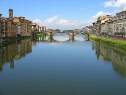 Italia Rio Arno Ponte Vecchio, Florencia