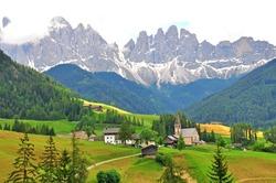 Italian Alps in Funes valley, Dolomites