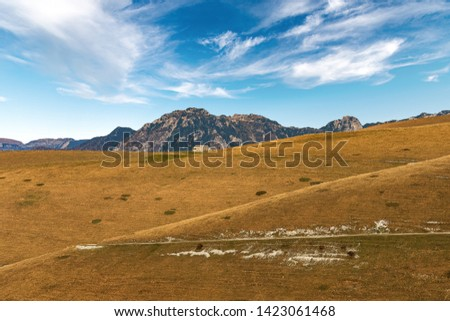 Italian Alps with the Carega Mountain, called the small Dolomites and the Lessinia Plateau. Regional Natural Park, Verona province, Veneto, Italy, Europe