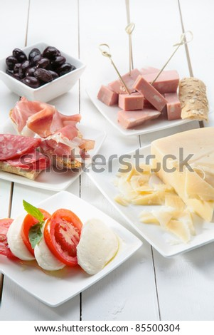 italian antipasto - stock photo