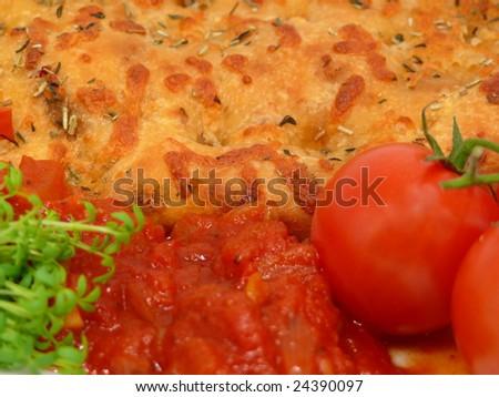 Italian bread with tomatoes (Bruschetta)