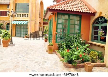 Italian building classic style .Pattaya Thailand