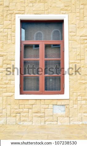 Italian building classic style .Pattaya Thailand , Window classic style.