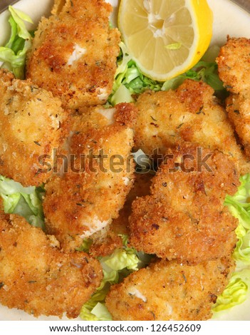 Italian chicken fillets fried in breadcrumbs, herbs and grated Parmesan cheese.