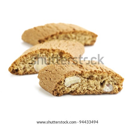 Italian Cookie isolated on white