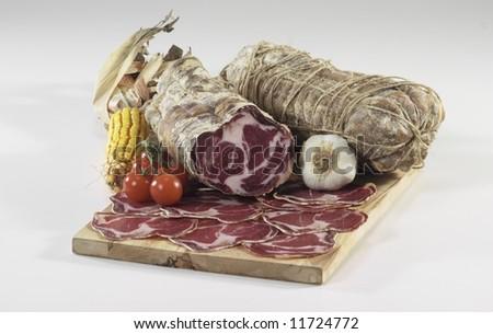 """italian """"coppa di Parma"""" salami"""
