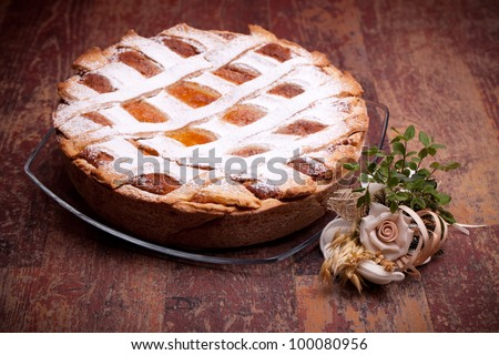 Italian Cuisine - Desserts - Neapolitan Pastiera . Pastiera is a wheat and ricotta pie that is also known at Naples as Pizza Gran.