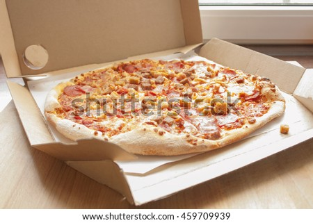 Italian Delicious Hot Pizza. In the Box #459709939